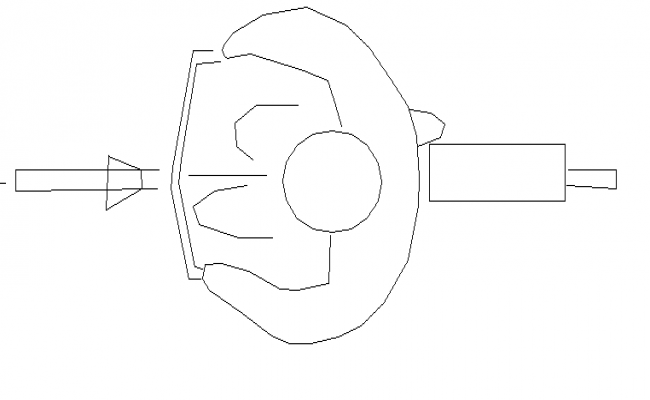 Top view of common cycle block design dwg file