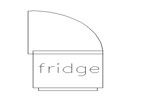Top view of fridge detail in 2d