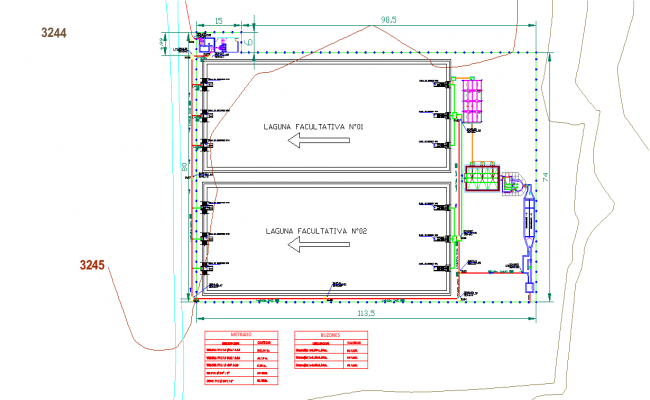 Topographic sewerage system layout file