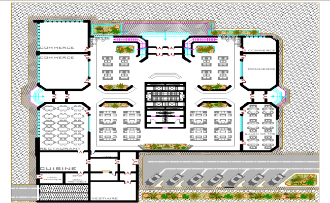Tour ecologic layout plan dwg file