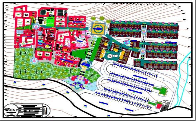 Tourist spa centre detail plan.