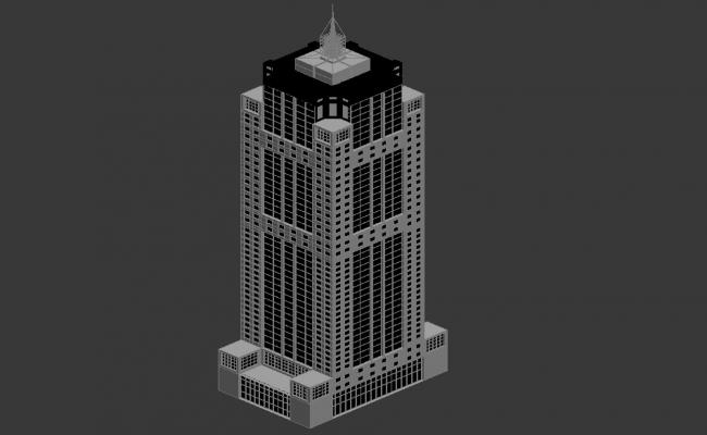 Tower Commercial Building 3d Max file