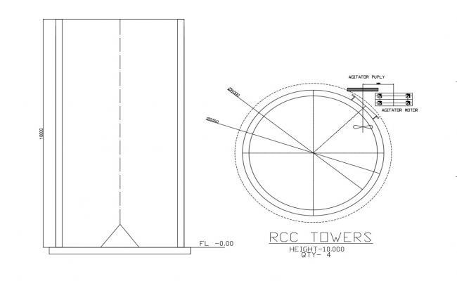 Tower Elevation Design CAD File