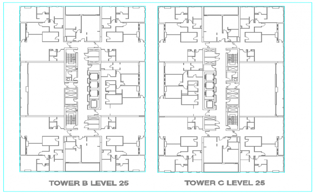 Tower design for mech tower B and C
