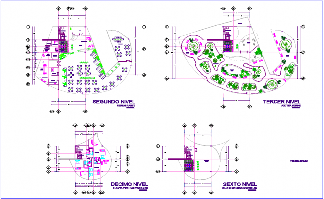 Tower second to tenth floor plan dwg file