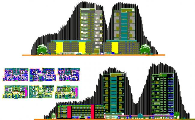 Towers and apartment blocks