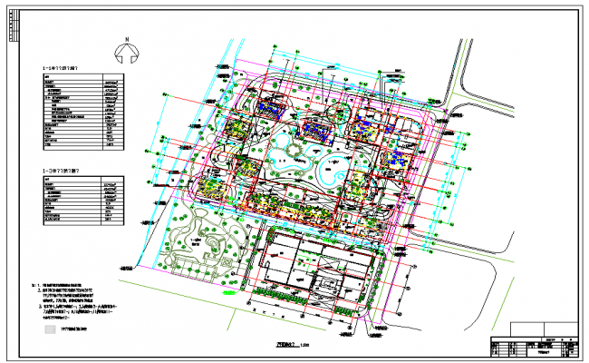 Town Planing Design in DWG file