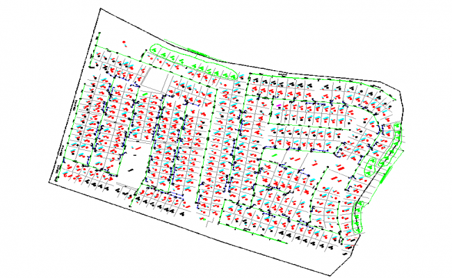 Town Planing Lay-out Drawing