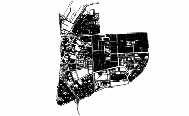 Town planning in dwg file