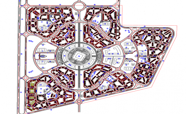 Townplan of Resort Project dwg file