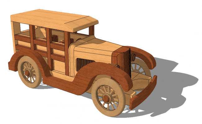 Toy jeep detail elevation 3d model SketchUp file