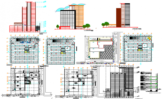 Trade Building Project Drawing autocad file