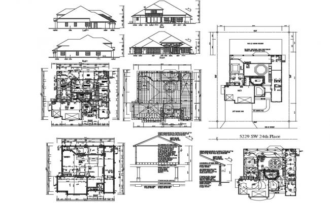 Traditional Attic Bungalow Design Architecture Plan