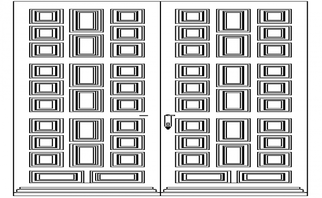 Traditional Design of Door Elevation dwg file