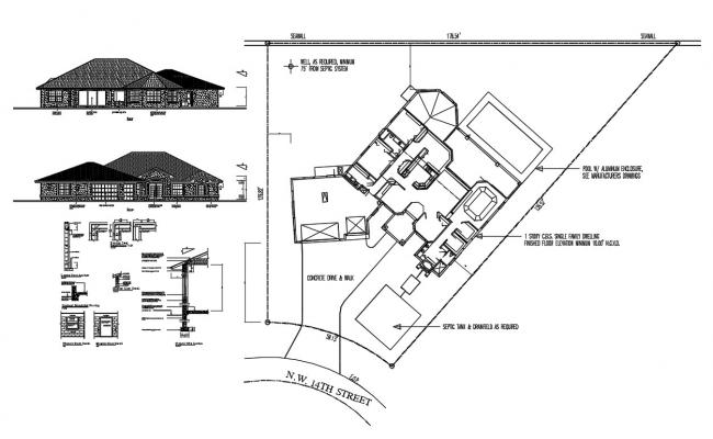 Traditional House Plan CAD Drawing