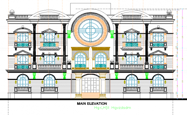 Traditional Residence elevation design