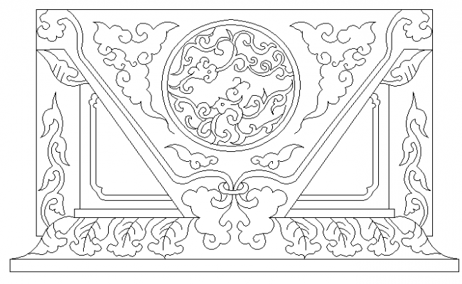 Traditional column design block details dwg file