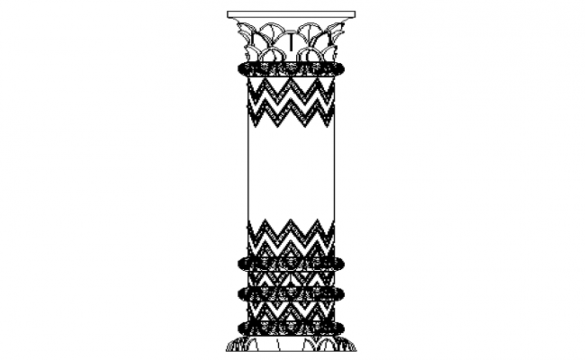 Traditional concept column elevation.
