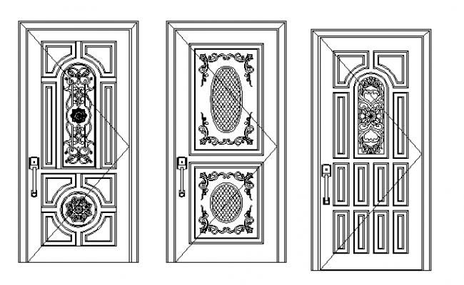 Traditional concept door elevation.