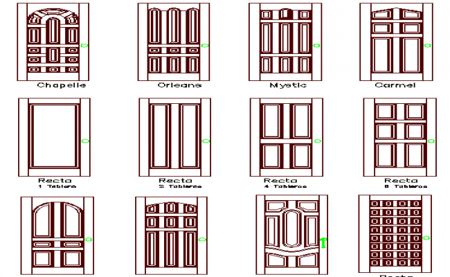 Traditional door design architecture project dwg file