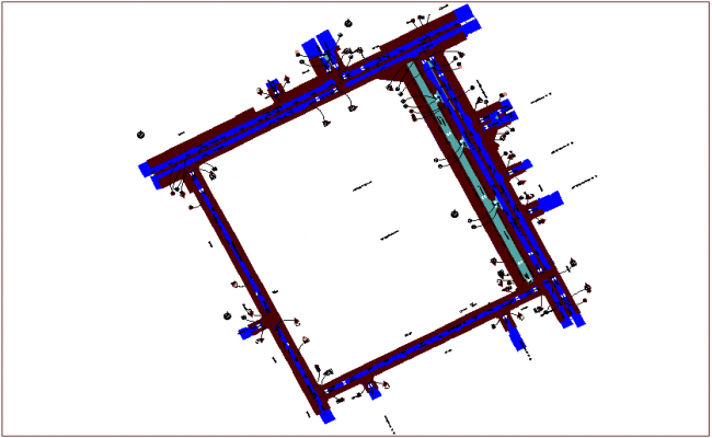 Traffic sign view in road design dwg file