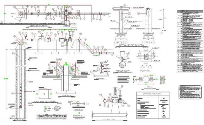 Train detail sections detail cad files