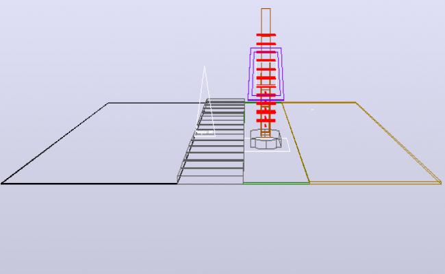 Train elevation detail dwg file