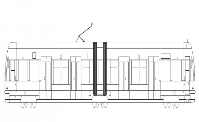 Train structure detail machine 2d view layout autocad file