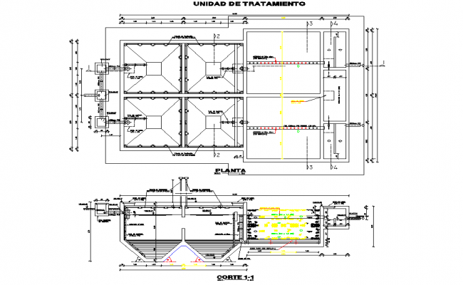 Treatment unit plan and section layout file