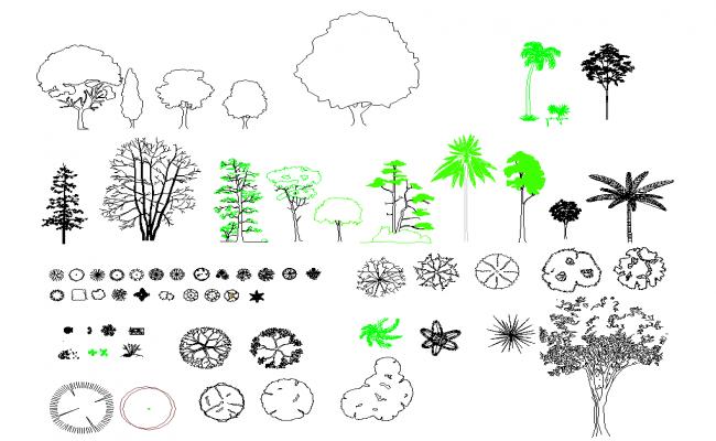 Tree Blocks cad file