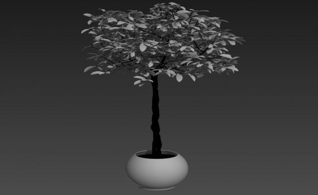 Tree Design 3d model Landscape Block max file