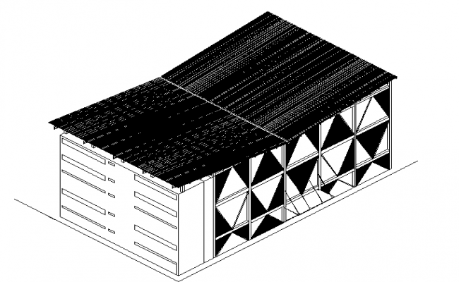 Triangle building elevation detail