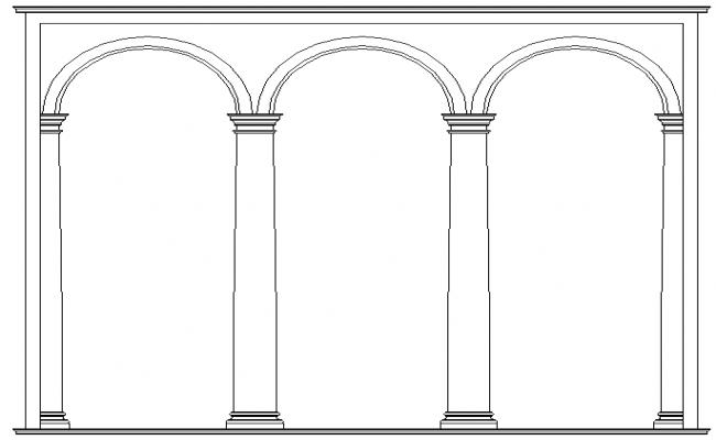 Triple corinthian arch