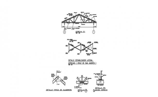 Truss Section In AutoCAD File