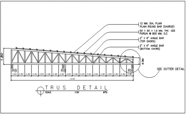 Truss detail dwg file