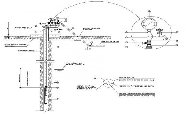 Tube Well Design AutoCAD file
