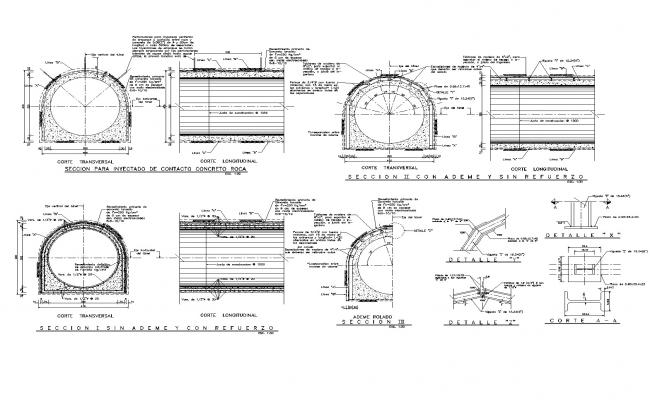 Tunnel section dwg autocad file