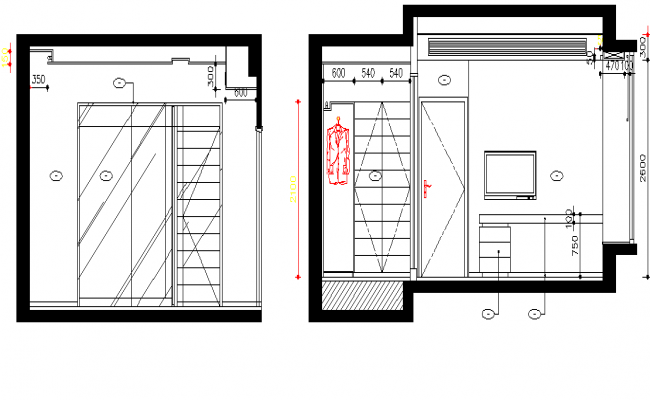 Tv unit elevation design