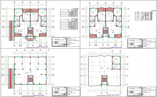 Twin bungalows house plan