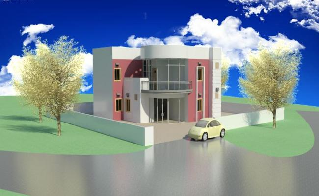 Two Storey 3D Bungalow