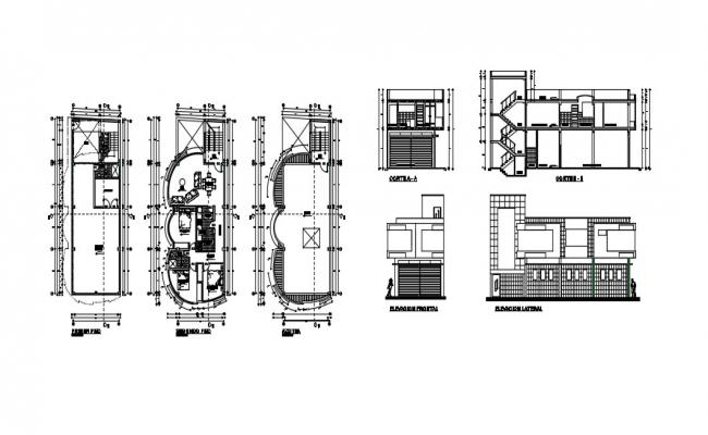 Two Storey Bungalow Design In AutoCAD File