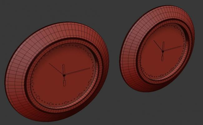 Two Wall Clock Design In 3D MAX File Free