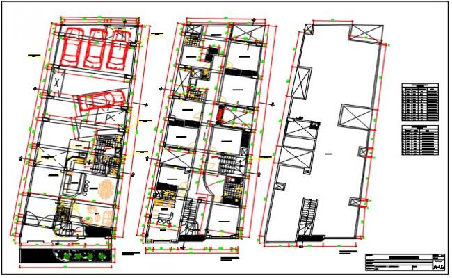 Two family house plan dwg