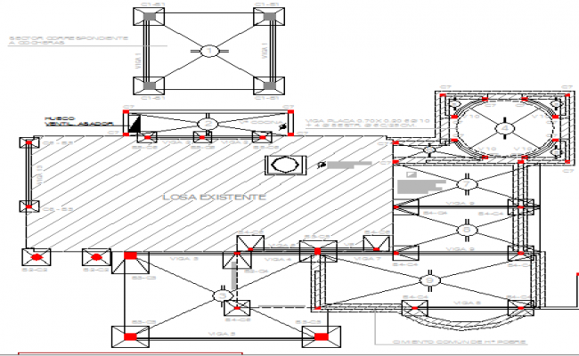 Two flooring corporate office architecture layout plan dwg file