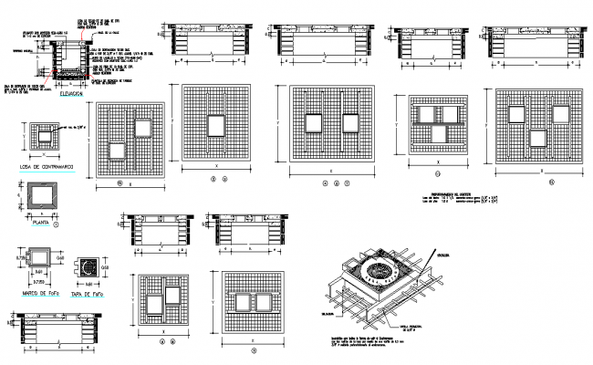Type valve boxes elevation and section layout file