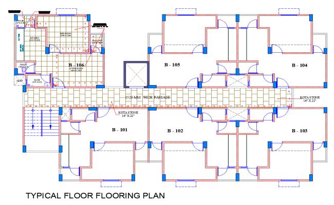 Typical Floor Flooring plan dwg file