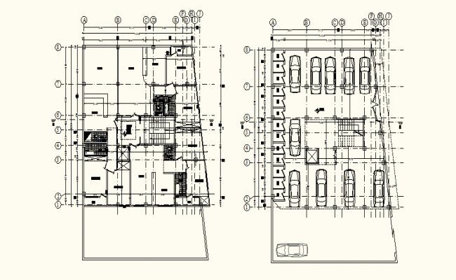 Residential Building In DWG File