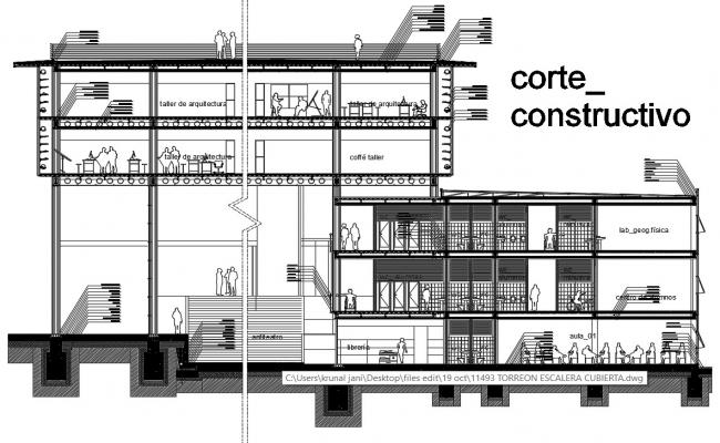 Typical Section of a Building Download CAD file
