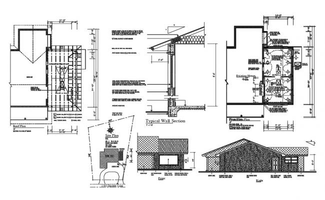 Typical Working House Plan DWG File