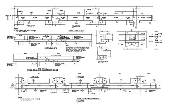 Typical beam construction and reinforcement details dwg file